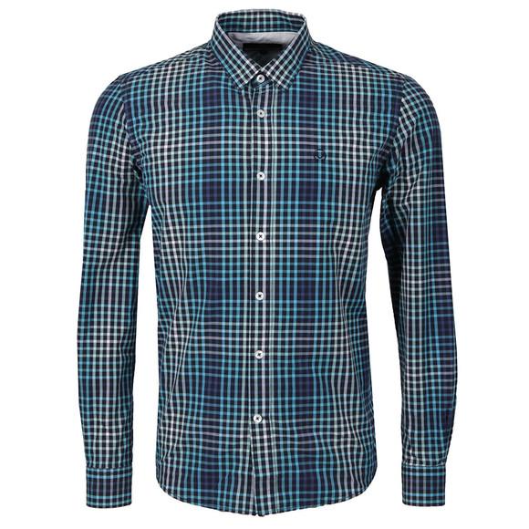 Duck & Cover Mens Blue L/S Myrtle Shirt main image