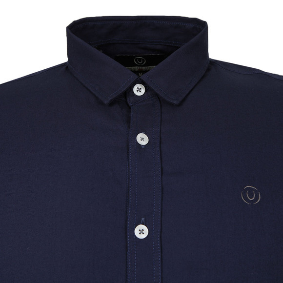 Duck & Cover Mens Blue L/S Birch Plain Shirt main image