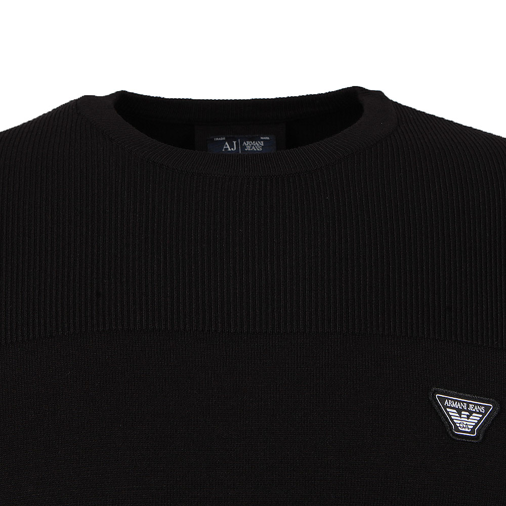 Ribbed Knitted Crew Jumper main image