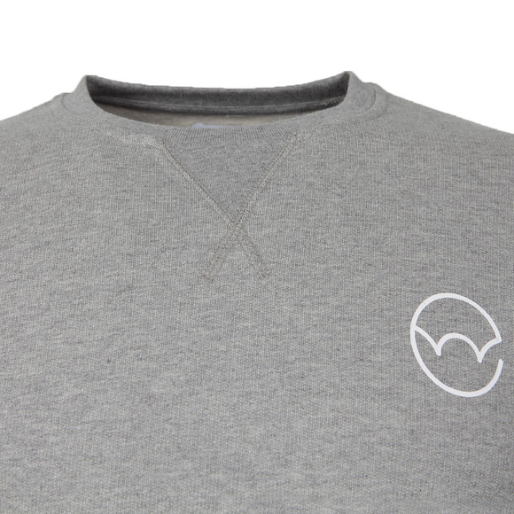 Edwin Mens Grey Classic Logo Crew Sweat main image