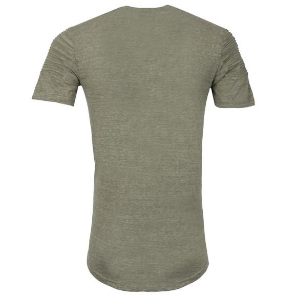 Project X Paris Mens Green Pleated Sleeve T Shirt main image