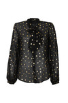 Maison Scotch Womens Black Top With Tie At Neck