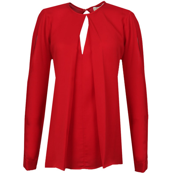 Michael Kors Womens Red Cold Shoulder Top main image