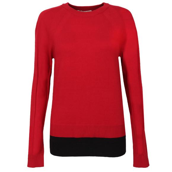 Michael Kors Womens Red Raglan Double Hem Jumper main image