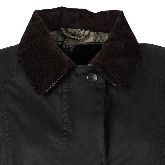 Barbour Lifestyle Womens Green Beadnell Wax Jacket  main image