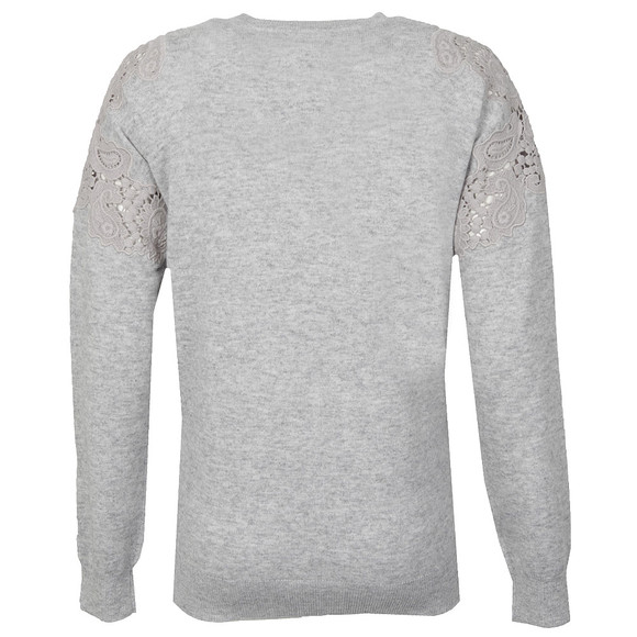 Ted Baker Womens Grey Tae Lace Shoulder Jumper main image