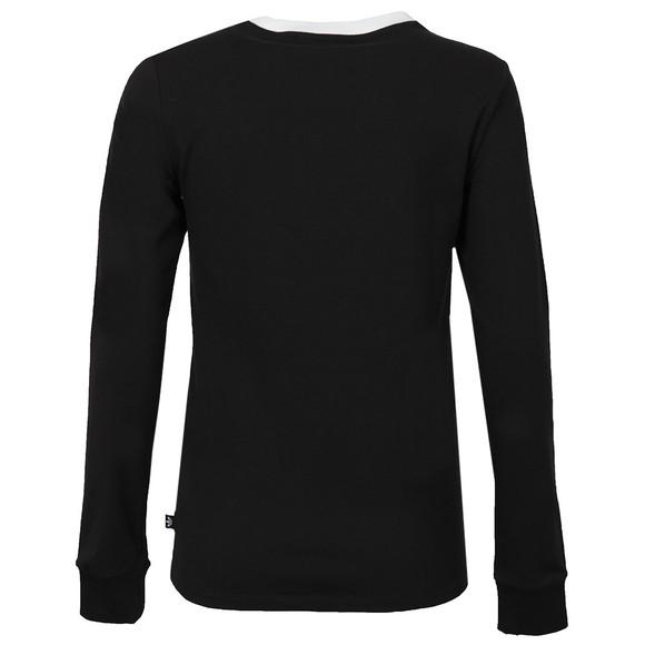 Adidas Originals Womens Black 3 Stripes Long Sleeve T Shirt main image