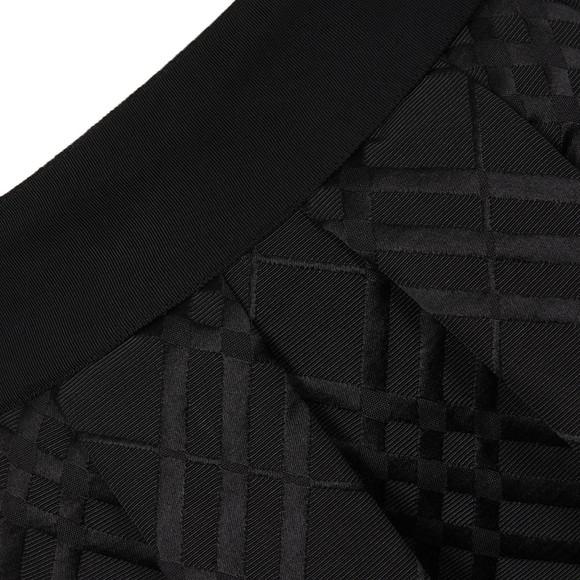 Ted Baker Womens Black Mansii Check Bow Detail Full Skirt main image