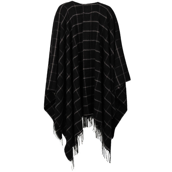 French Connection Womens Black Windowpane Cape main image