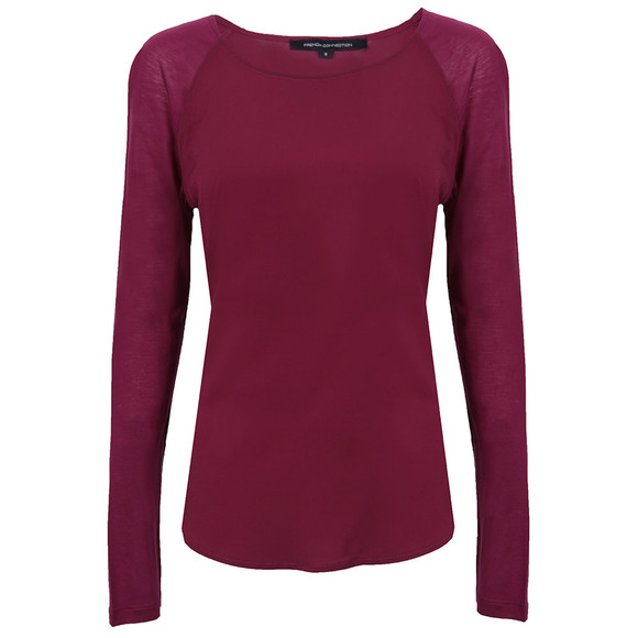 French Connection Womens Pink Polly Plains Long Sleeve Raglan Top main image