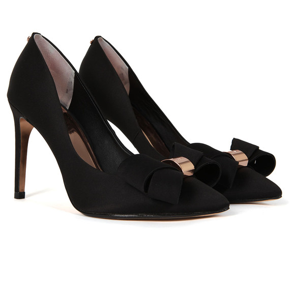 Ted Baker Womens Black Ichlibi Statement Bow Court Shoes main image