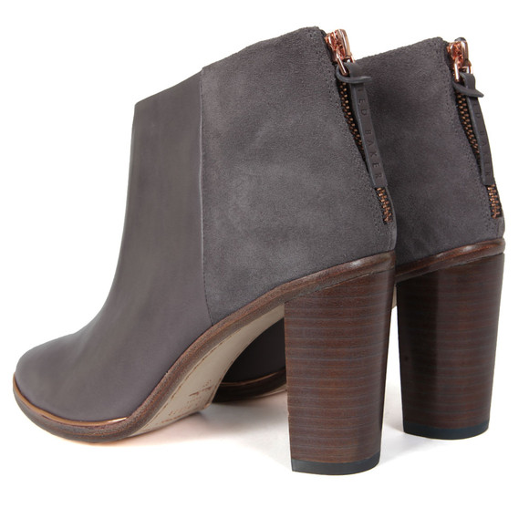 Ted Baker Womens Grey Lorca Heeled Leather Ankle Boots main image