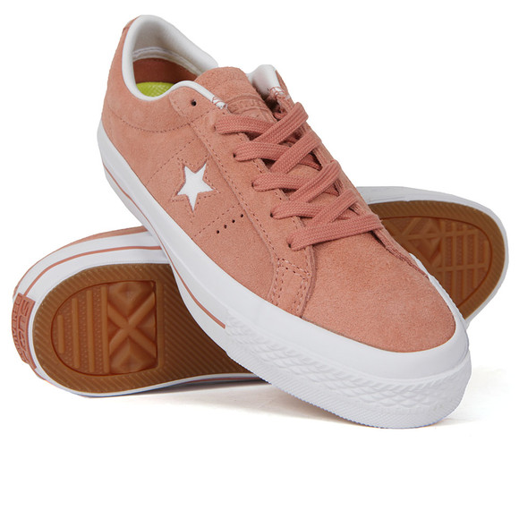 Converse Womens Pink One Star Suede Ox  main image
