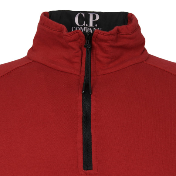 CP Company Mens Red Half Zip Sweat main image