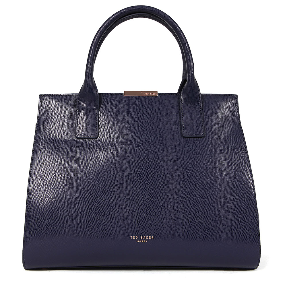 Laurena Mini Grain Leather Metal Bar Tote main image