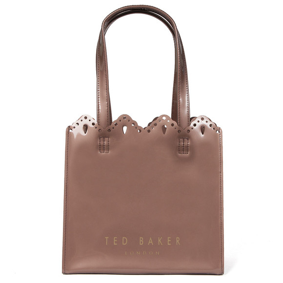 Ted Baker Womens Pink Idacon Scalloped Micro Bow Small Icon Bag main image