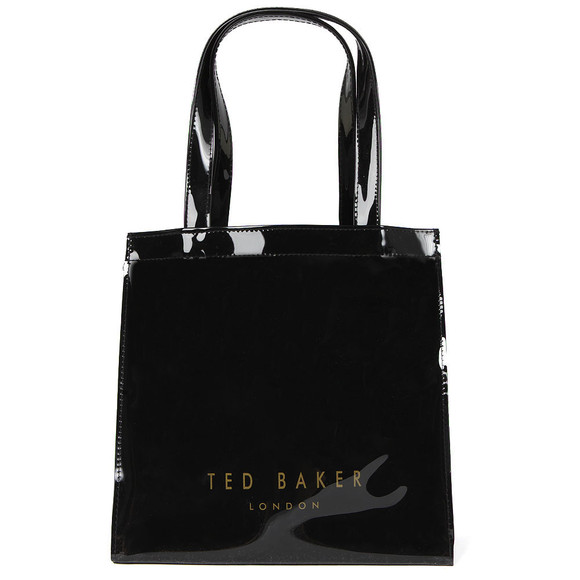 Ted Baker Womens Black Minacon Colourblock Bow Small Icon Bag main image