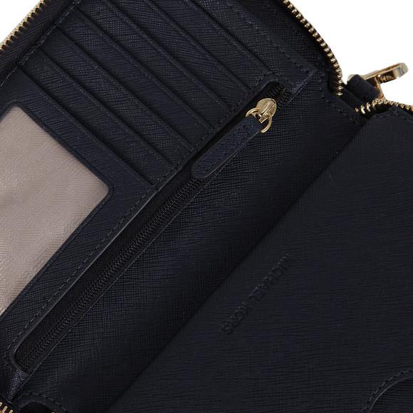 Michael Kors Womens Blue Jet Set Travel Large Coin Multi Function Phone Case main image