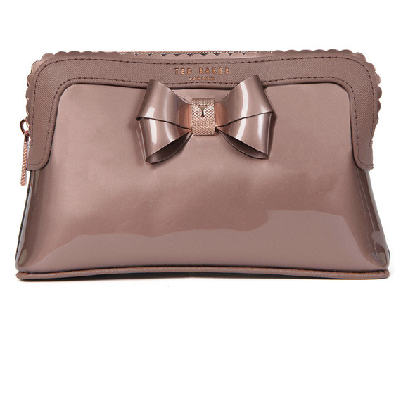Ted Baker Womens Pink Elden Scallop Edge Make Up Bag main image