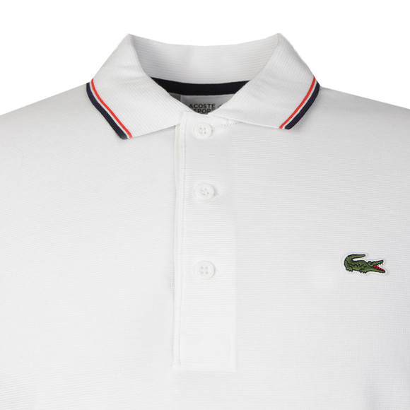 Lacoste Sport Mens White YH7900 Tipped Polo Shirt main image