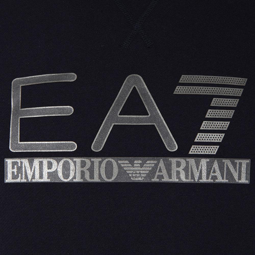 Ea7 emporio armani metallic logo sweatshirt masdings - Emporio giorgio armani logo ...