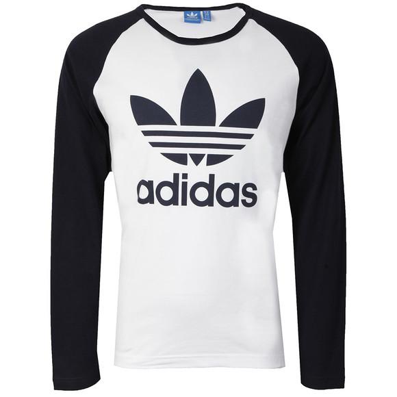 Adidas Originals Mens White L/S Trefoil Tee main image