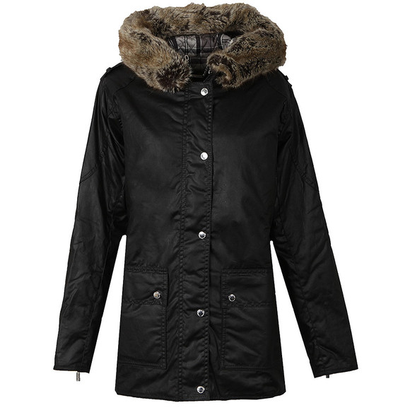 Barbour International Womens Black Turini Wax Jacket main image