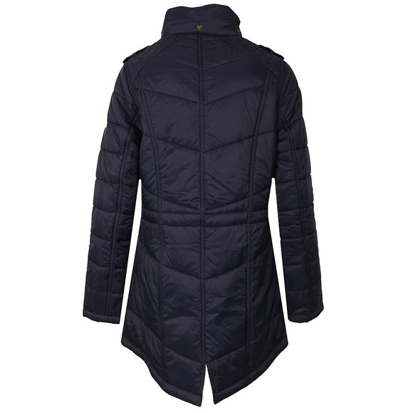 Barbour International Womens Blue Circlip Quilted Jacket main image
