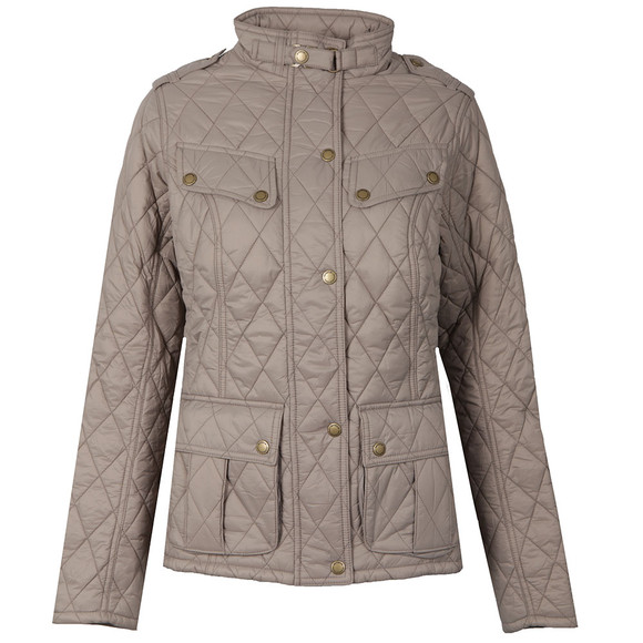 Barbour International Womens Beige Caster Quilted Jacket main image