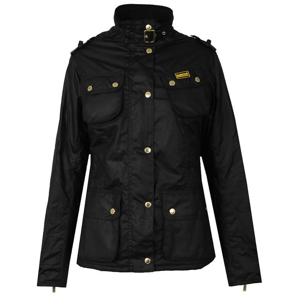 Barbour International Womens Black Fins Wax Jacket main image