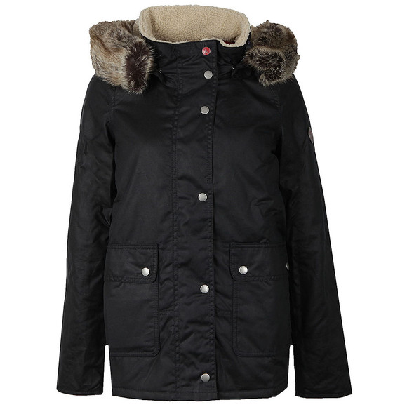 Barbour Lifestyle Womens Blue Crevasse Wax Jacket main image