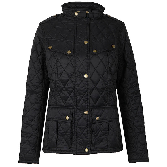 Barbour International Womens Black Caster Quilted Jacket main image