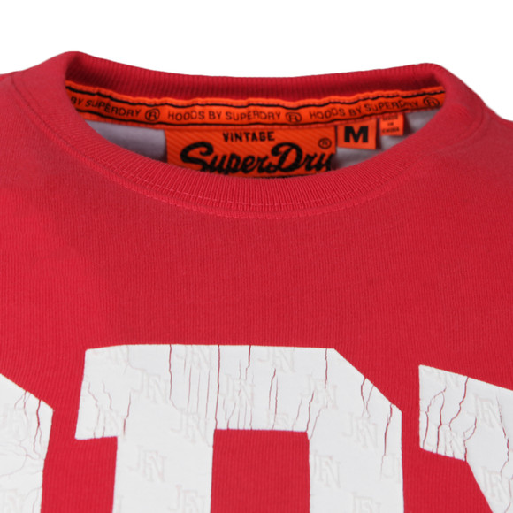 Superdry Mens Red S/S Big Entry Tee main image