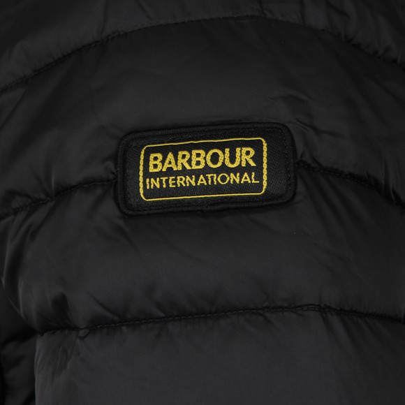 Barbour International Mens Black Ouston Hooded Quilt main image