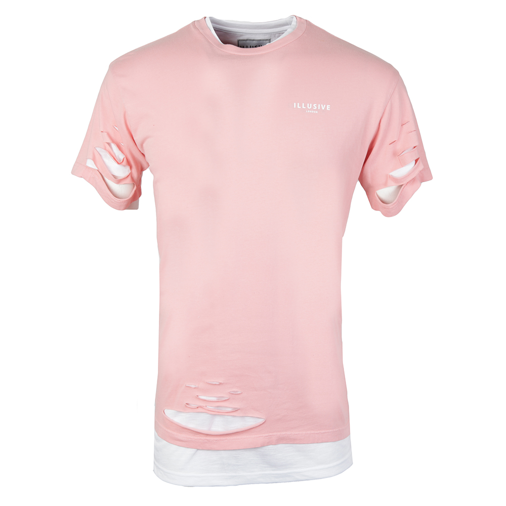 Double Layer Ripped T Shirt main image