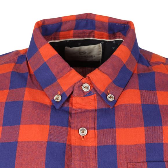 Scotch & Soda Mens Blue Brushed Cotton Shirt main image