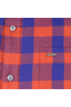 Scotch & Soda Mens Blue Brushed Cotton Shirt