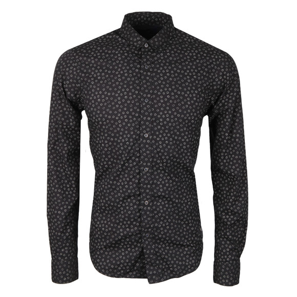Scotch & Soda Mens Black All Over Printed Shirt main image