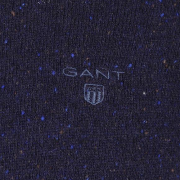 Gant Mens Blue Donegal Crew Jumper main image