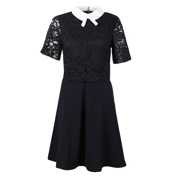 Ted Baker Womens Blue Dixxy Lace Bodice Double Layer Dress main image