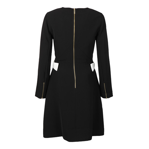 Ted Baker Womens Black Emorly Side Bow Long Sleeve Dress main image
