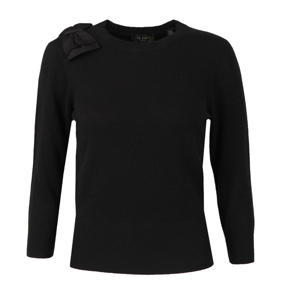 Ted Baker Womens Black Callah Bow Detail Jumper main image