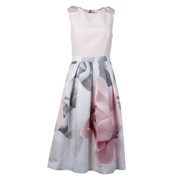 Ted Baker Womens Off-white Riina Porcelain Rose Bow Dress main image