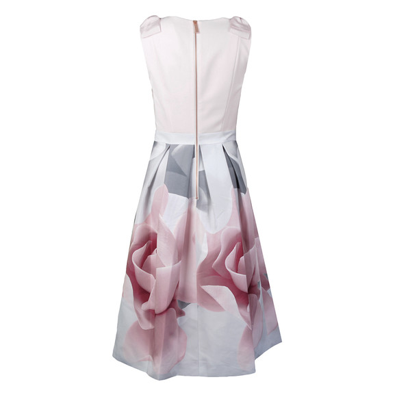Ted Baker Womens Off-white Riina Porcelain Rose Bow Dress main image