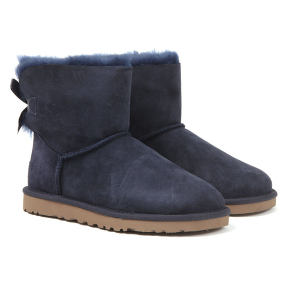 Ugg Womens Blue Mini Bailey Bow II Boot main image