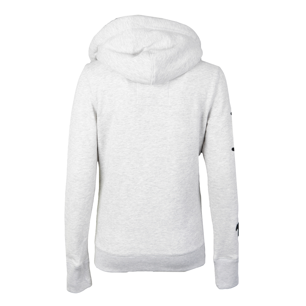Applique Borg Zip Hoody main image