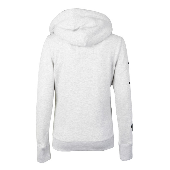 Superdry Womens Grey Applique Borg Zip Hoody main image
