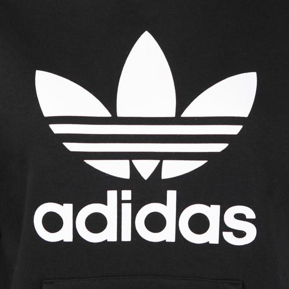 Adidas Originals Womens Black Trefoil Logo Hoody main image