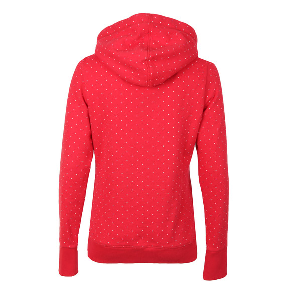 Superdry Womens Red Classics Polka Hoody main image