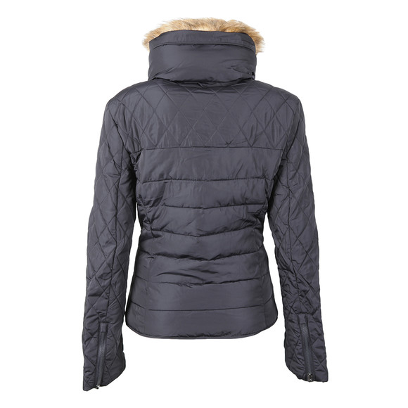Superdry Womens Blue Ultra Quilt Biker  main image